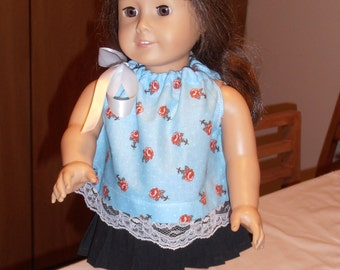 "American Girl  / 18"" Doll Summer Top - Blue"