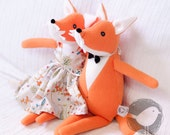 Stuffed toy animal Fox/Animal doll Fox/Fox plush/Orange fox/Forest animal