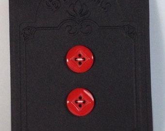 2 Red buttons 18mm 4 holes.