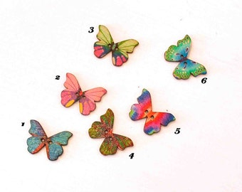 """Wooden button """"Butterfly"""" color choice"""