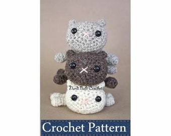 Amigurumi PATTERN Crochet Kitty in the Round Amigurumi Cat Pattern with Permission to Sell