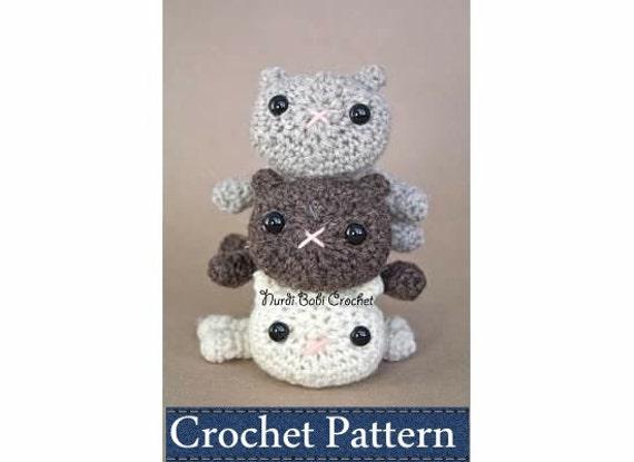 Amigurumi PATTERN Crochet Kitty in the Round Amigurumi Cat