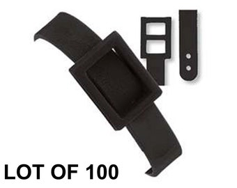 100 Black Plastic Luggage Tag Loop Buckle Strap for Lenticular Tags Lot Of 100 - #LTL02-B-100#