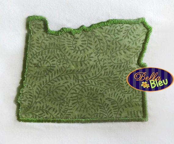Oregon state applique embroidery design monogram
