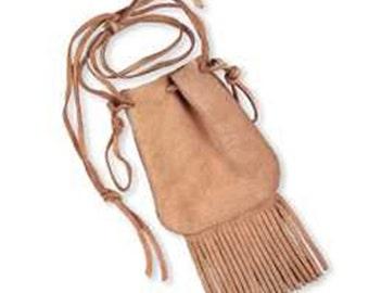 fringe suede purse