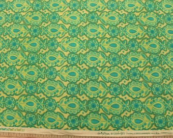 """Moda """"Spring House Collection"""" with Green Flowers by Stephanie Ryan Sold by the Half Yard"""