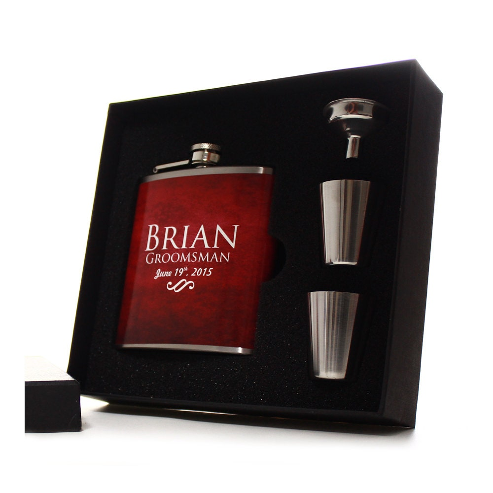 Unique Wedding Gifts For Groomsmen: Flasks For Men Personalized Flasks For Groomsmen