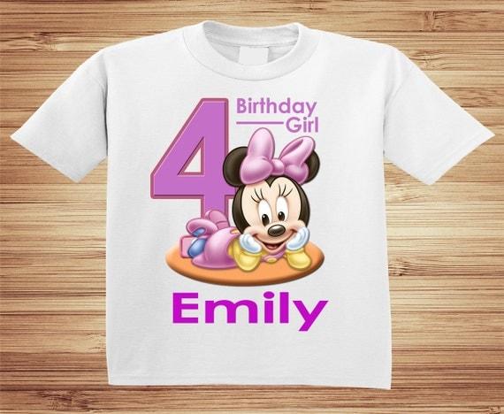 Personalized Minnie Birthday T Shirt - Disney, Clubhouse, Minnie, Goofy