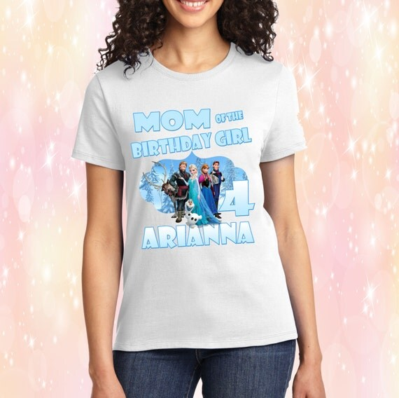 Frozen Mom / Dad of the Birthday Boy/Girl Shirt - Anna, Elsa, Olaf, Sven