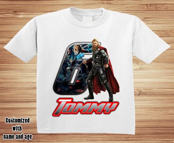 THOR Personalized Birthday Shirt ~ iron man avenger hulk captain america marvel Avengers
