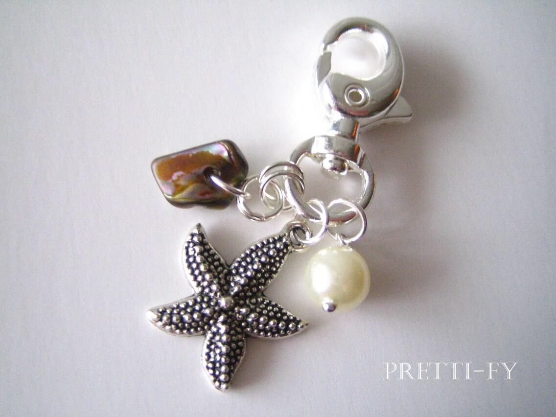 unique key chain nautical key ring abalone starfish custom