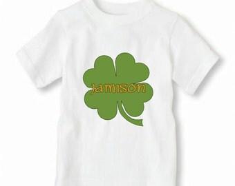 Monogram St. Patrick's Day Shirt, Toddler Boy St. Patrick's Day Shirt, Iron On Shamrock Shirt, Boy's St. Patrick's Day Shirt,
