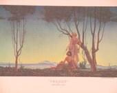 "Original Vintage Hernando Villa ""Twilight"" Print"