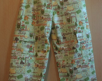 Camping Toddler Trousers with Pockets Aged 3-4 years