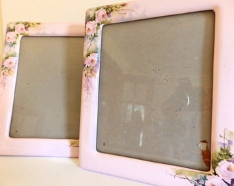 Vintage 80s Shabby Pink Frame Home Decor