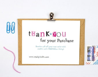 Business Thank You Cards INSTANT DOWNLOAD - Simply Stamped