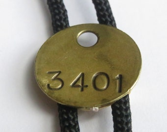 Handcrafted Gold Tone 3401  Math  Bolo Tie  IC Lot 8