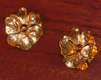 Yves Saint Laurent earrings with clips