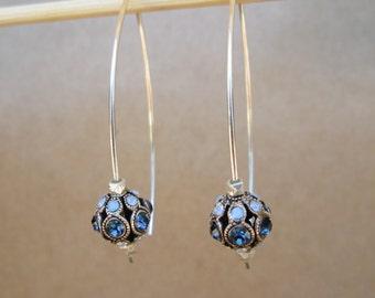 Montana/Air Blue Swarovski Crystal Earrings