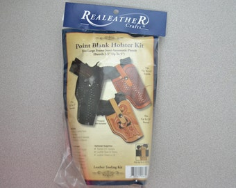 47348 Leather Veg Tanned Point Blank Holster Kit- Semi Automatic Pistols Gun Craft