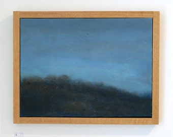 Original Oil Painting - Small Abstract Landscape Painting - 'Dawn'  by Ella Carty - Blue Abstract Art  - 16 x 12 inches - FREE SHIPPING