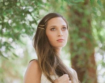 Gold Twig Bobby Pins Twig Hair Pins Twig Hair Clips Gold Bridal Hair Bobby Pins Bridal Hair Clips Woodland Wedding Bridal Hair Accessories