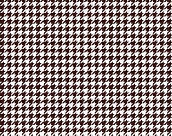 Brown houndstooth craft  vinyl sheet - HTV or Adhesive Vinyl -  dark brown and white pattern vinyl  HTV428