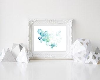Dream Print, Dream Art, Watercolor Typography, Watercolor Quote Print, Inspirational Art Print, Wall Decor, Wall Art, Nursery, Framed Art