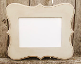 Whimsical Picture Frame- Rounded Corners with Distressed Finish in Choice of Colors