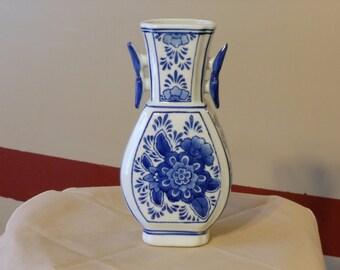 Seymour Mann China Blue Fine Porcelain Vase