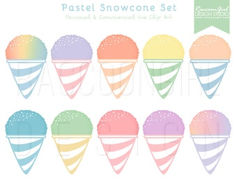 Clip Art Snow Cone Clip Art snow cone clipart etsy 50 off pastel snowcone clip art set personal commercial use
