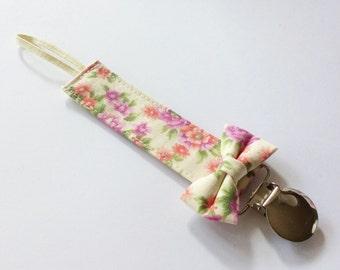 Pacifier Clip - Orchid Floral
