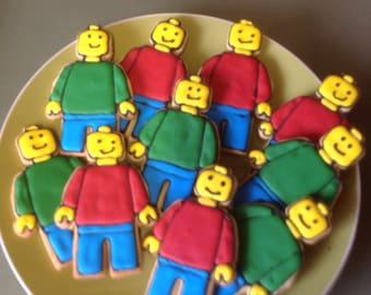 16  Lego men cookie platter.