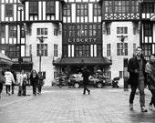 "15"" x 10"" Photography Print - Liberty London, Black and White - Street Photography - Travel"