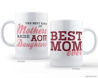 AOII Alpha Omicron Pi Best Mom Sorority Mug