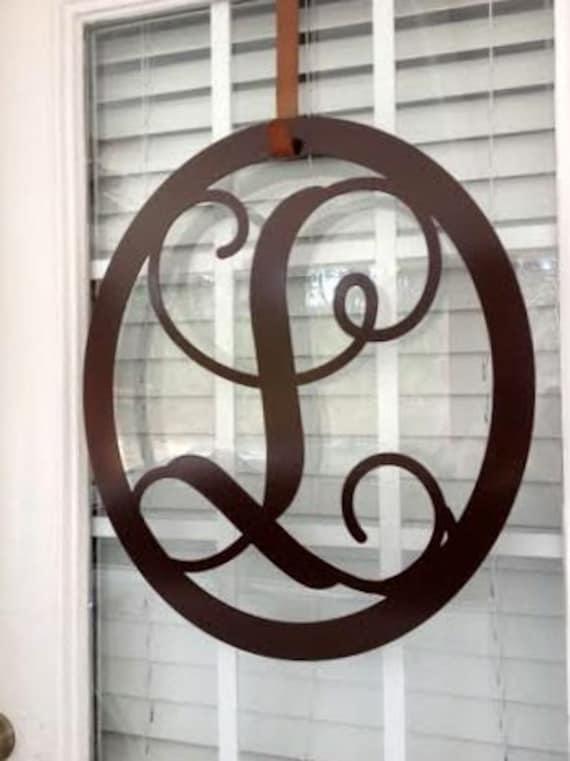 monogrammed wreath metal monograms metal by housesensations