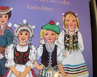 Traditonal FOLK Costumes of  Europe PAPER DOLLS In Full Color