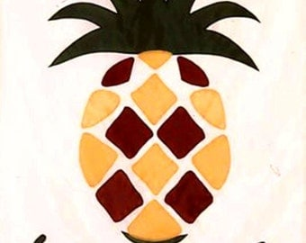 Welcome Pineapple Flag - Full Size