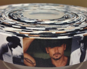 "Tim McGraw Country Music Singer 7/8"" inch Hair Bow Ribbon- by the yard grosgrain"
