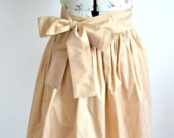 Bridal Skirt, Wedding Skirt, Ballgown Skirt, Gold Skirt, Cream Skirt, Bridesmaid Skirt, Maxi Skirt, Floor Length Skirt, Gathered Skirt