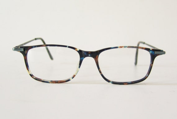 Eyeglass Frames German : Vintage Luca eyeglasses German frame blue colorful specs