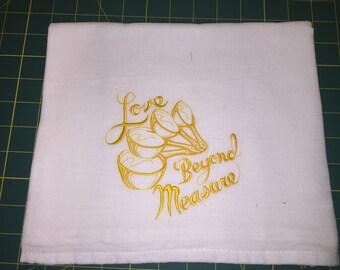 Machine Embroidered Flour Sack Dish Towel