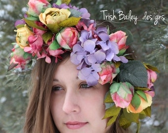 Vintage Floral Wedding Crown