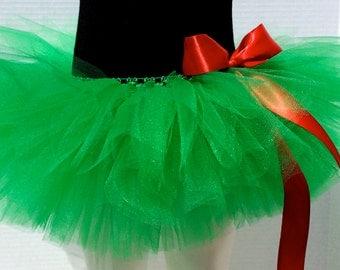 Green Tutu, Christmas Tutu, Holiday Tutu, St. Patrick's Day Tutu, Infant/Toddler/Child