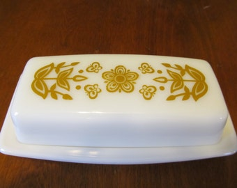 Vintage Pyrex Milk Glass Butterdish