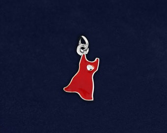 Small Red Dress Charm (RETAIL (RE-C-P3S-HRT)