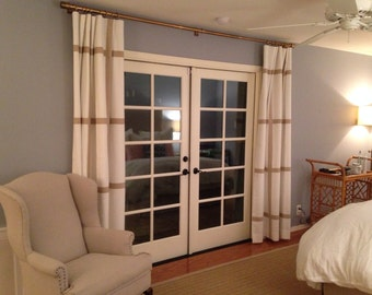 Custom Window Pane Drapery Panels