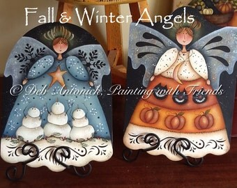 Fall and Winter Angels by Deb Antonick, email pattern packet