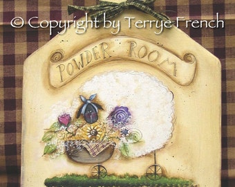 Powder Room,  Terrye French, pattern packet email
