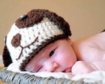 Crochet Puppy Dog Newborn Set, Newborn Photo Prop